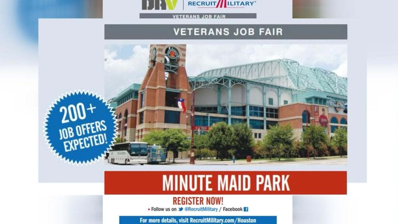 Veteran job fair at Minute Maid Park