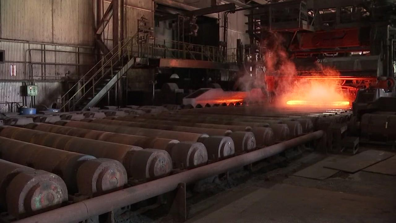 Workers saved at steel plant