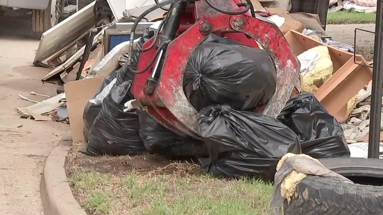 Residents near Richmond are cleaning up after Harvey