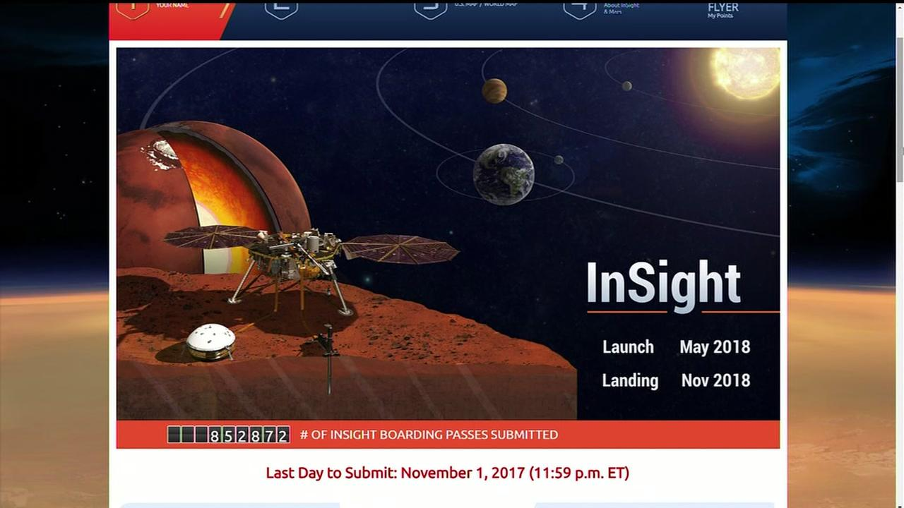 Heres your chance to send your name to Mars