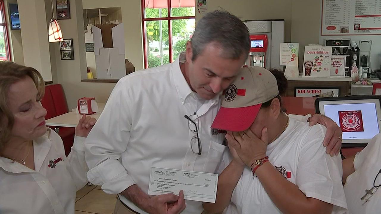 Shipleys surprises employee who lost everything in Harvey