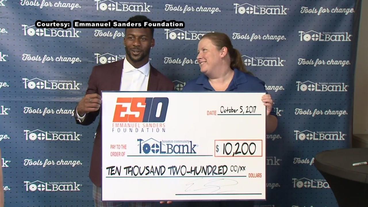 Emmanuel Sanders donates to Harvey relief efforts