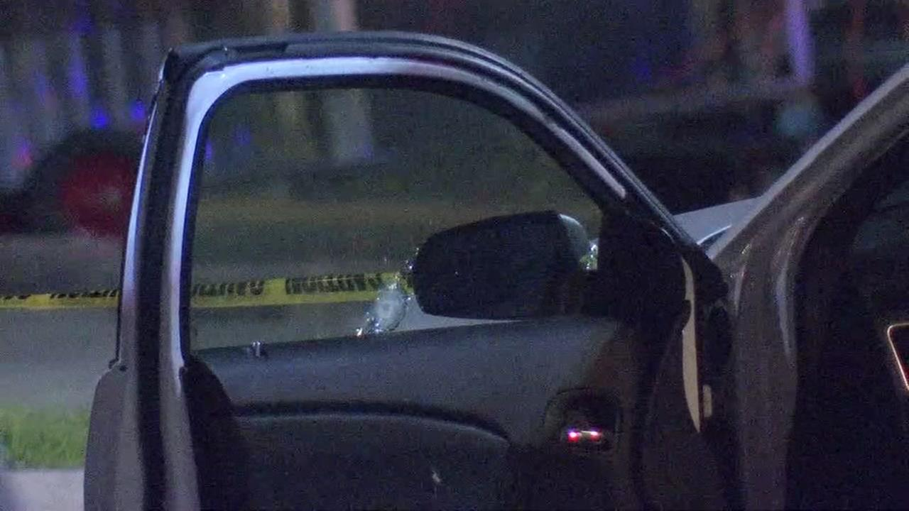 Father hurt in drive-by with daughter in car
