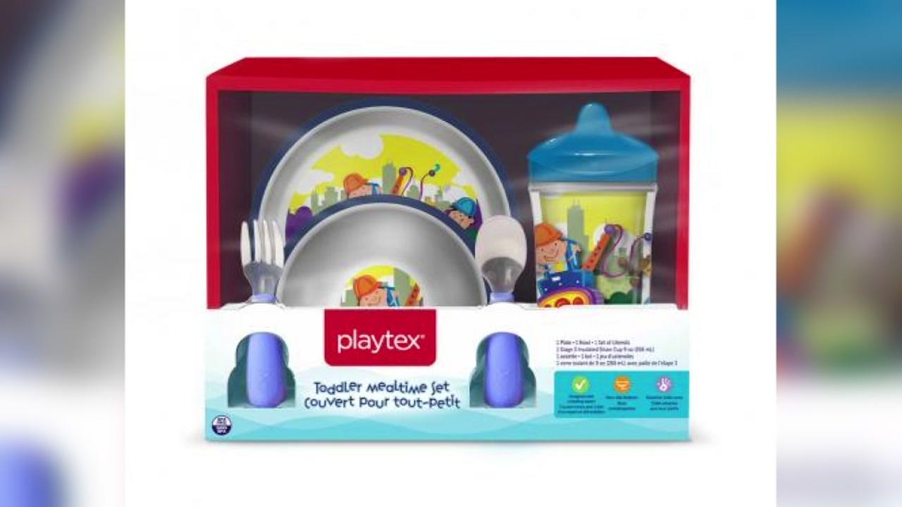 Playtex recalls printed kids bowls, plates over choking hazard
