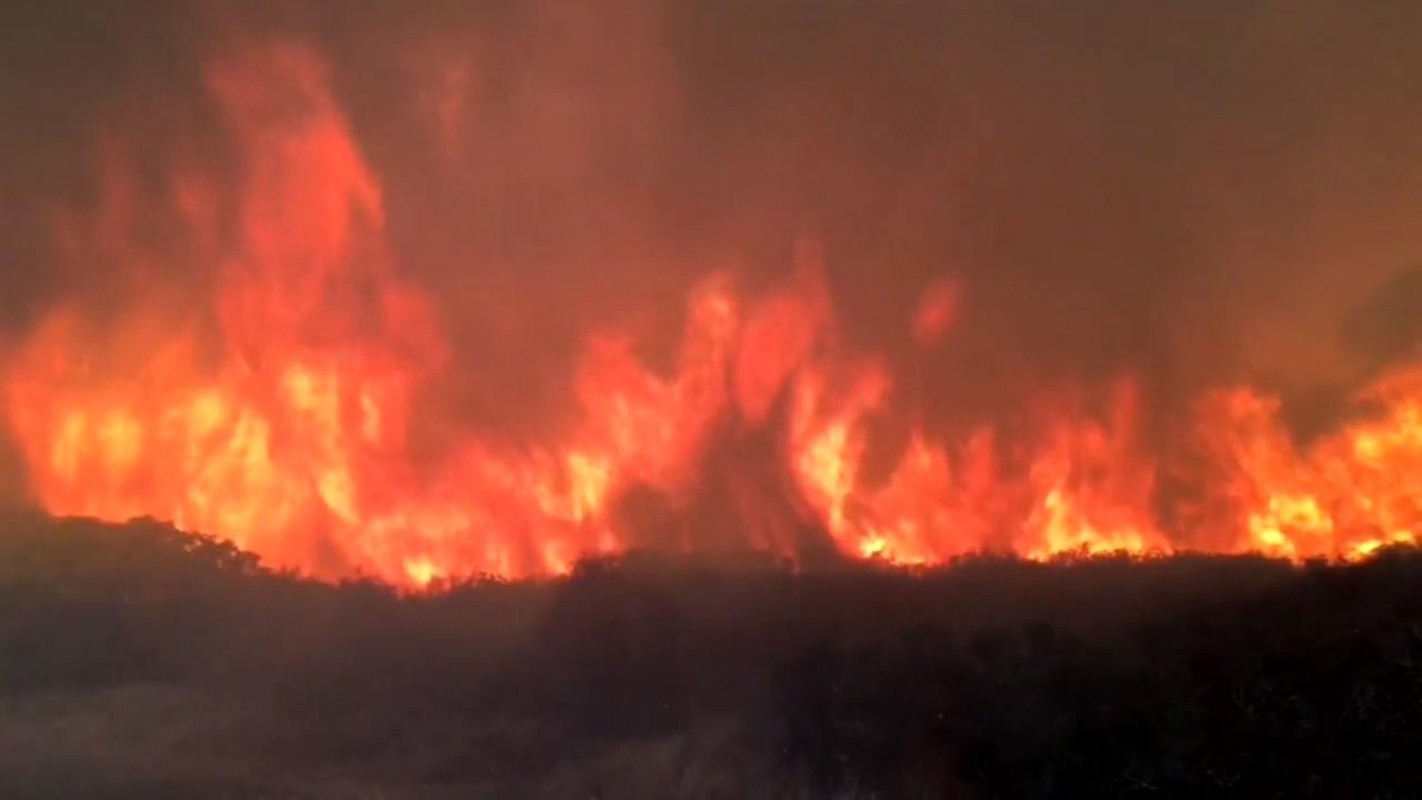 17 wildfires rage through California