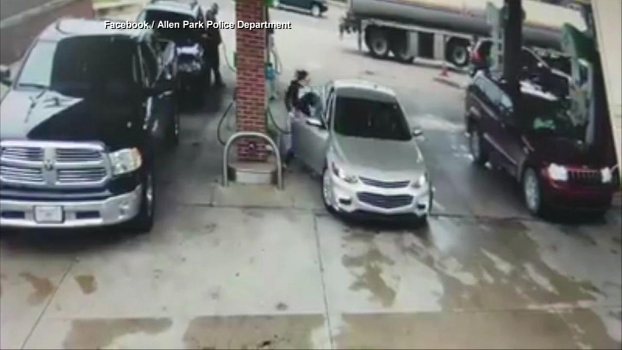 Man tries to steal car at gas station