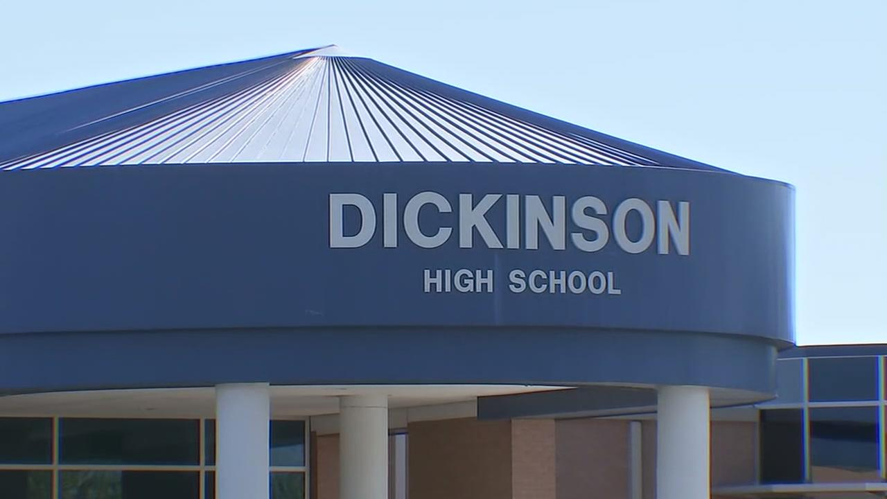 Gun at Dickinson High School