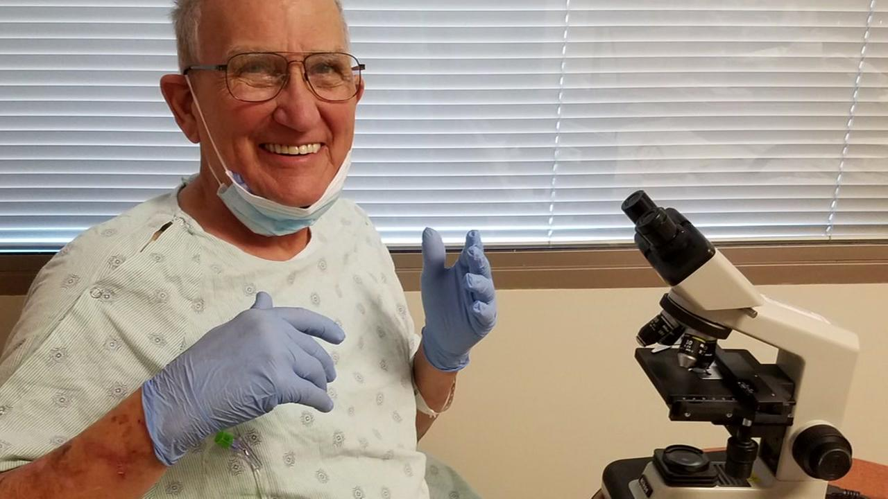 TAMU professor with leukemia teachers from hospital