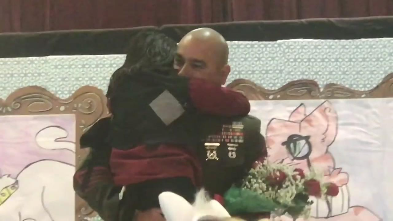 Alvin Marine surprises daughter in emotional homecoming