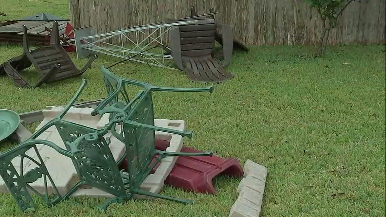 Storm damage across houston