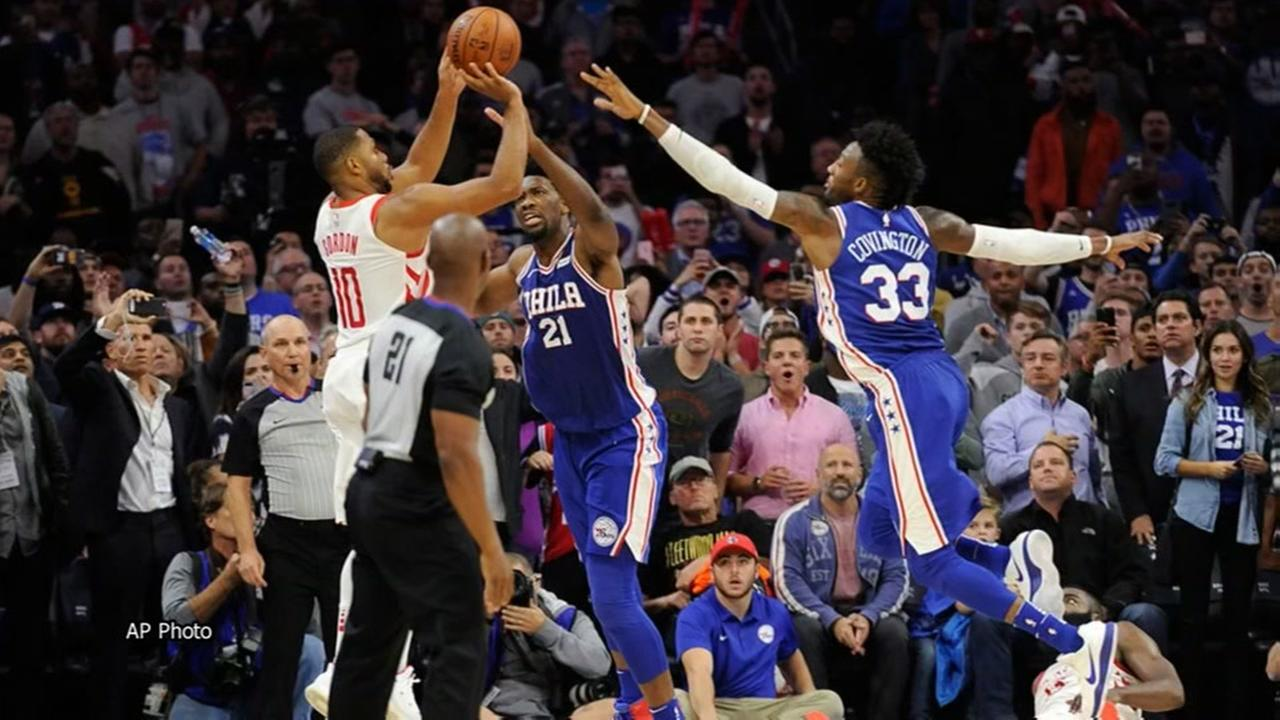 Gordons 3 at buzzer lifts Rockets past 76ers