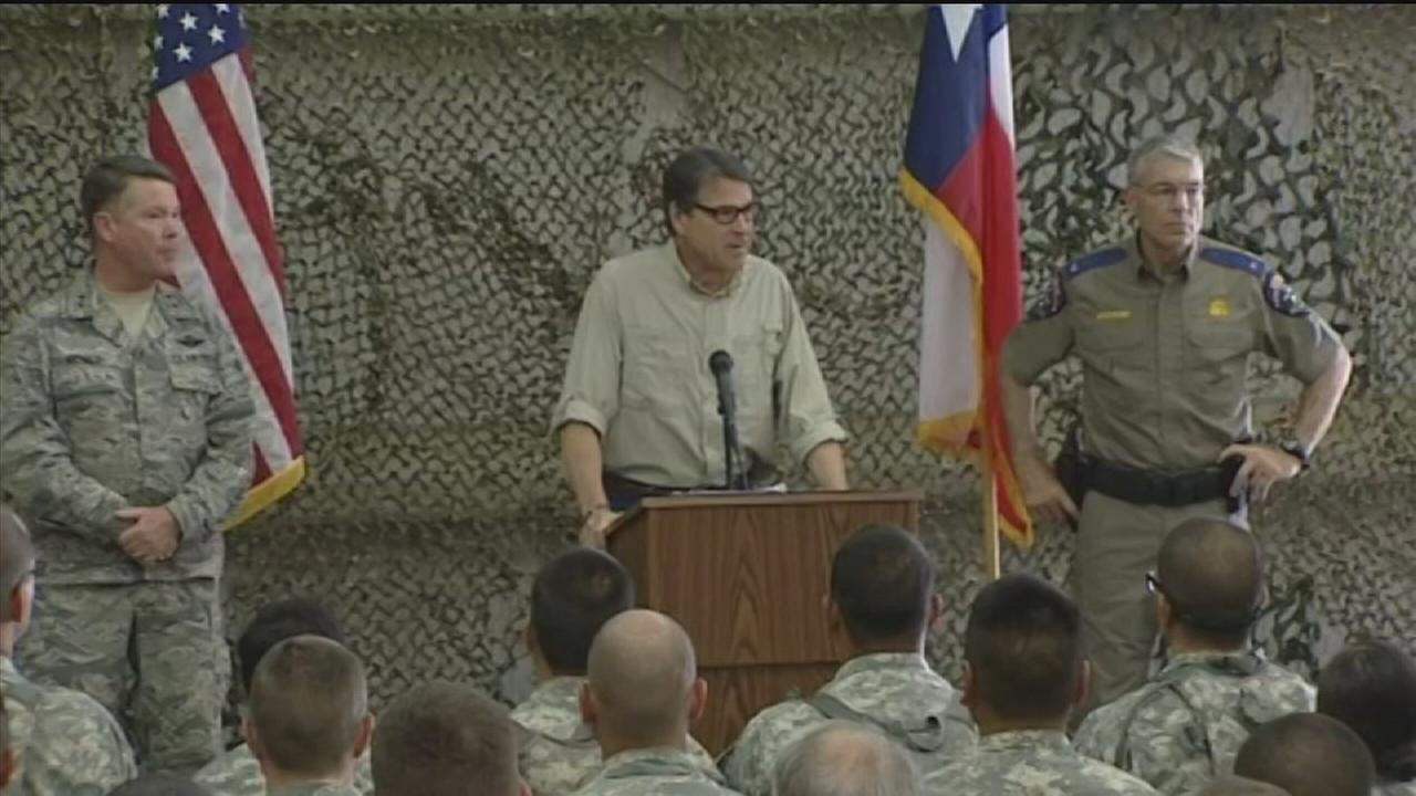 Perry not sure how long Guard troops to deploy