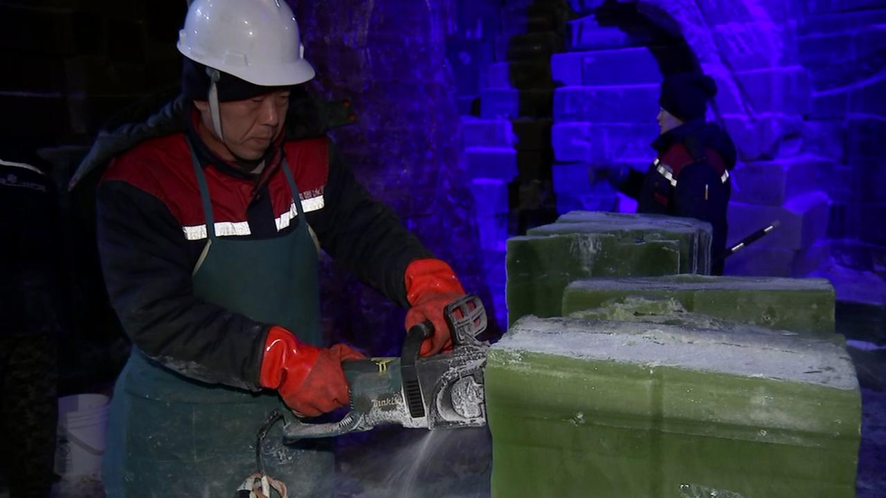 Workers put finishing touches on Ice Land