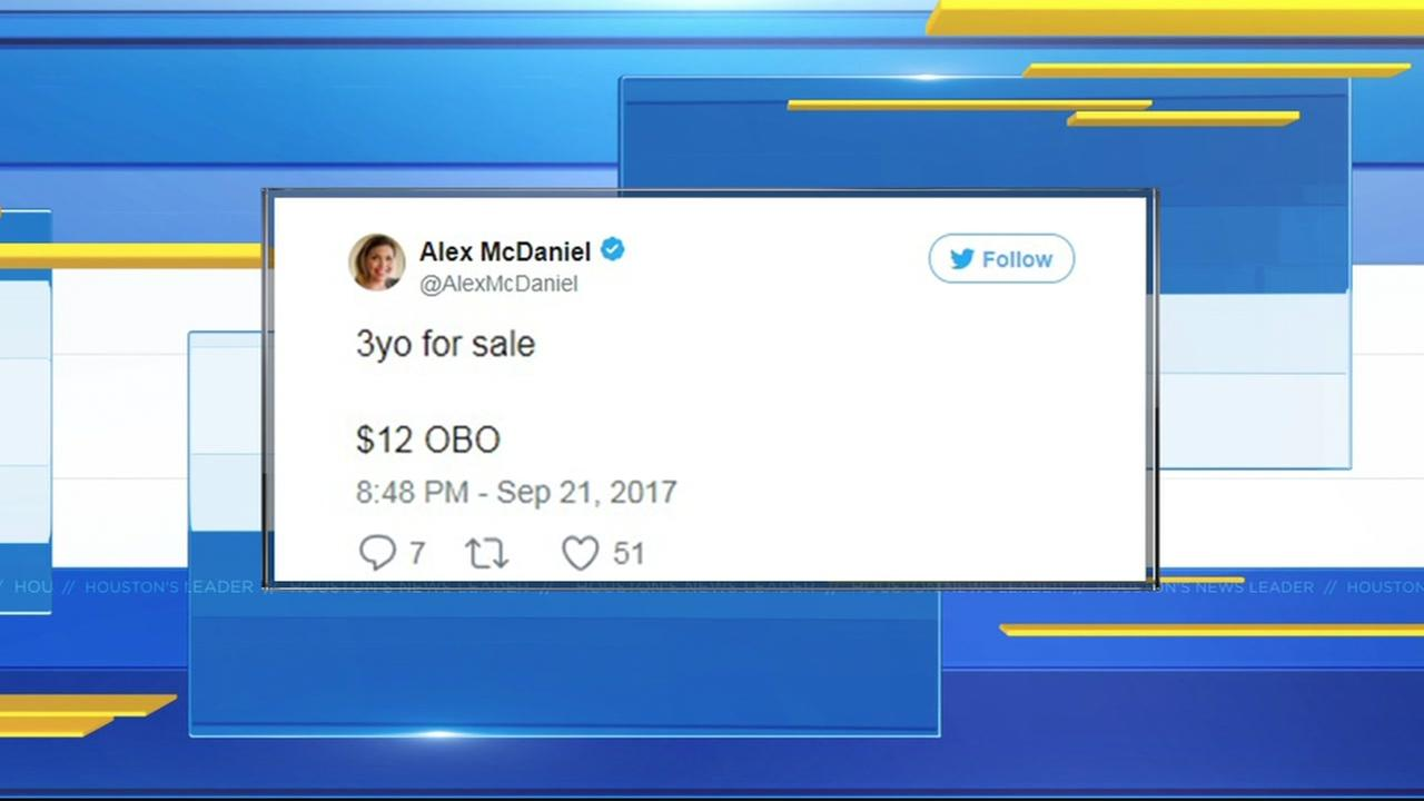 Mom investigated for human trafficking after funny tweet