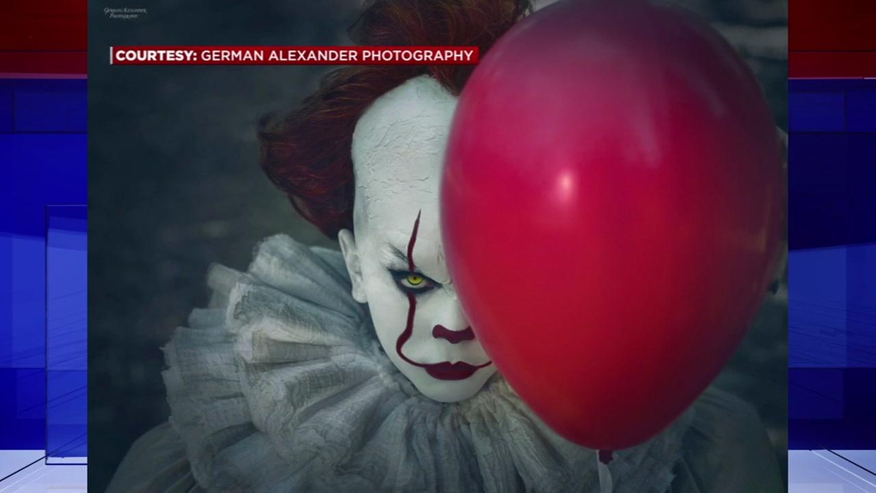 10-year-old poses in Pennywise photo shoot