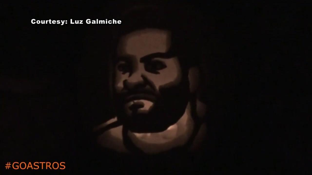 Jose Altuve pumpkin carving