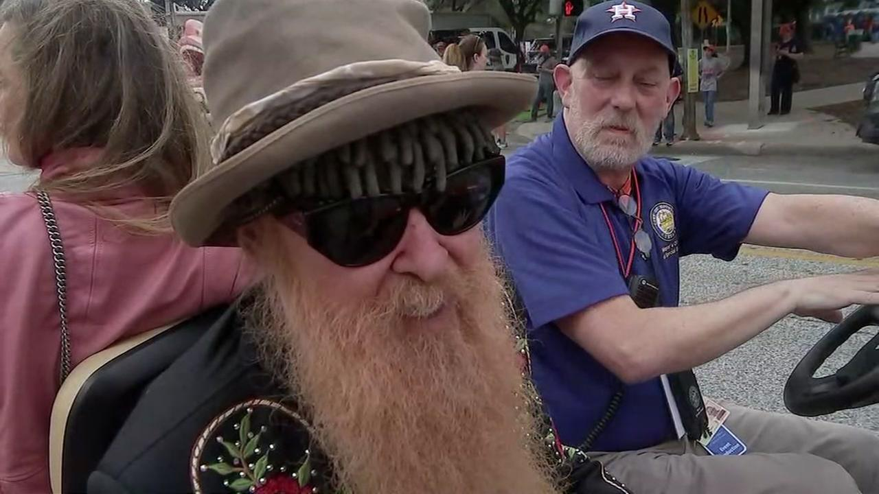 ZZ Top cheers on Astros at World Series parade