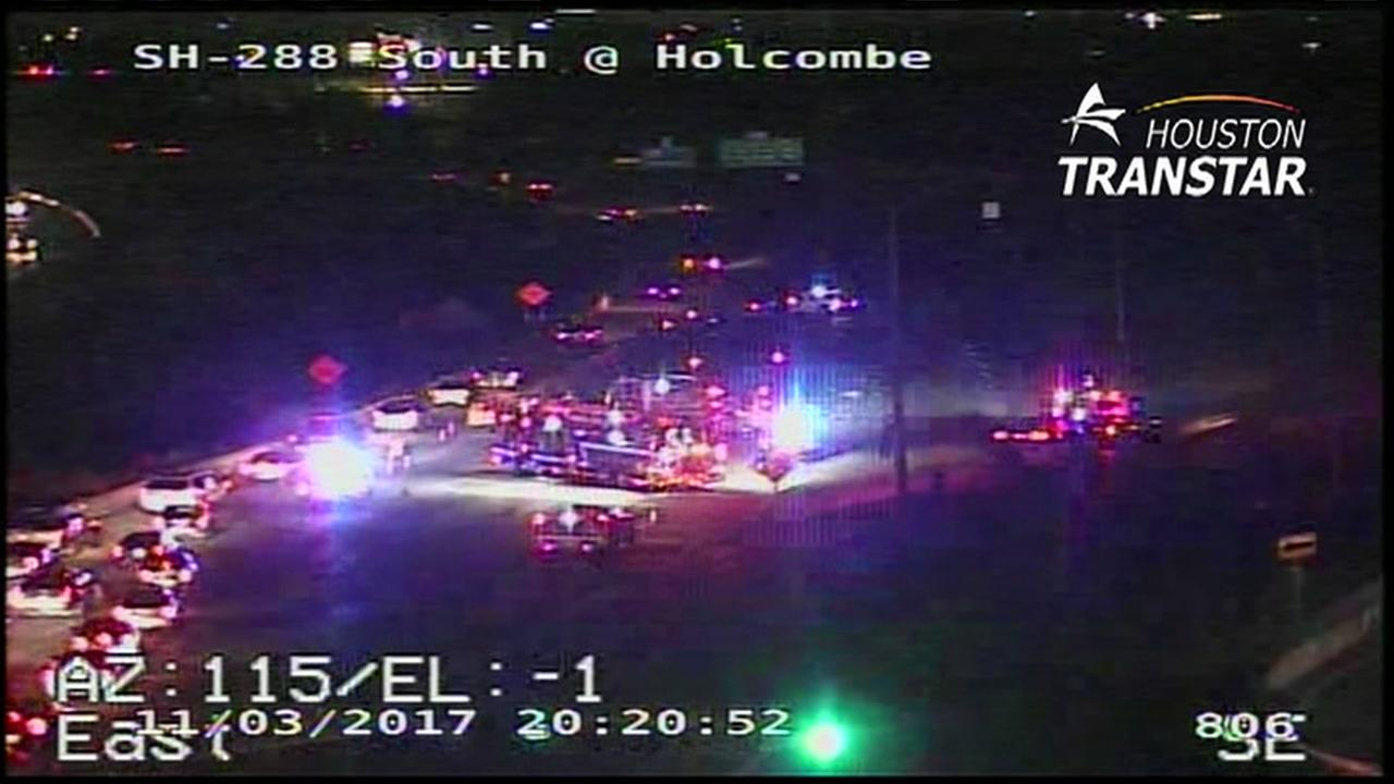 Pedestrian killed after being hit by car on 288