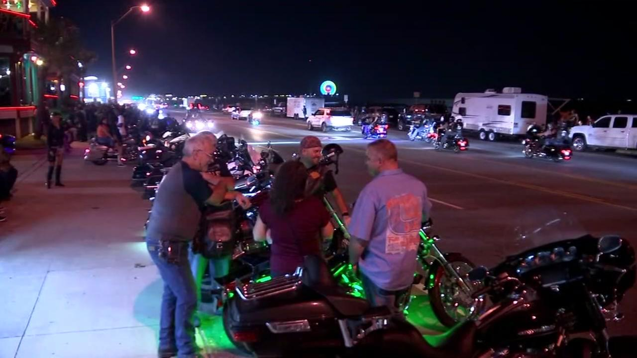 Motorcycle rally held in Galveston