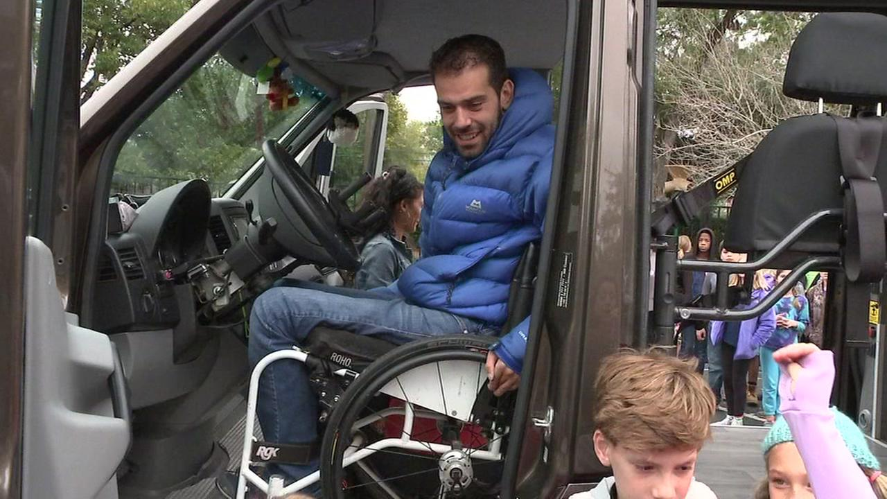 Frenchman in wheelchair drives around world to spread message of accessibility