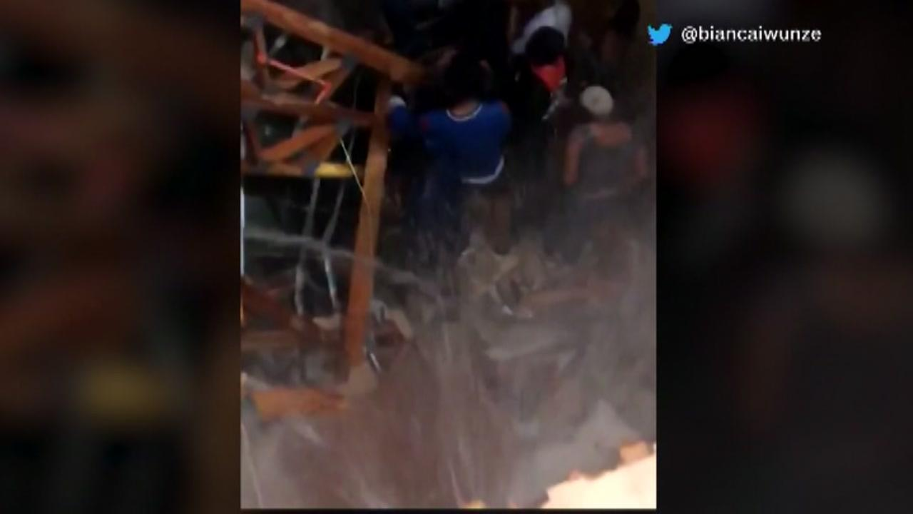 Apartment floor collapses during party in Denton