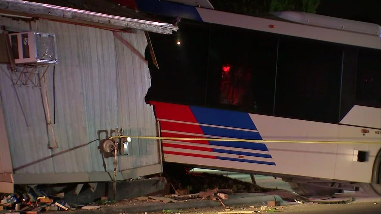 4 taken to hospital after METRO bus crashed into home