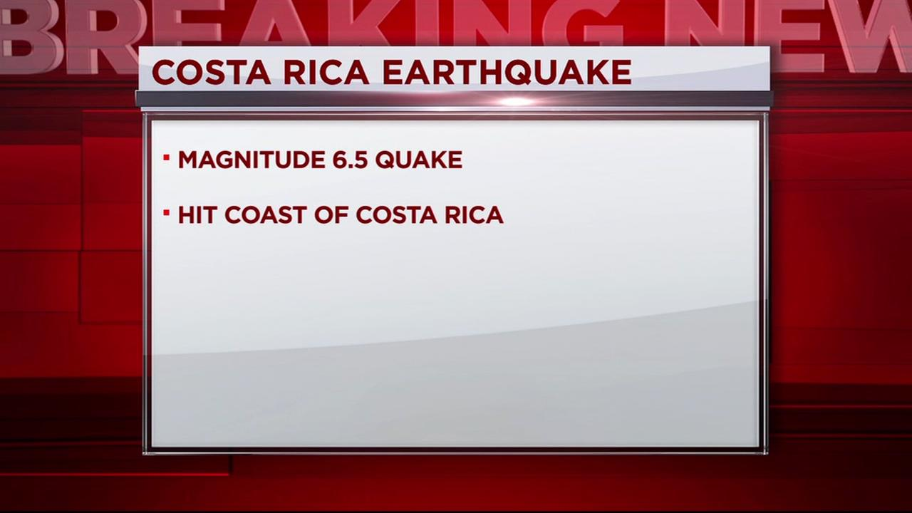 Earthquake hits Coasta Rica
