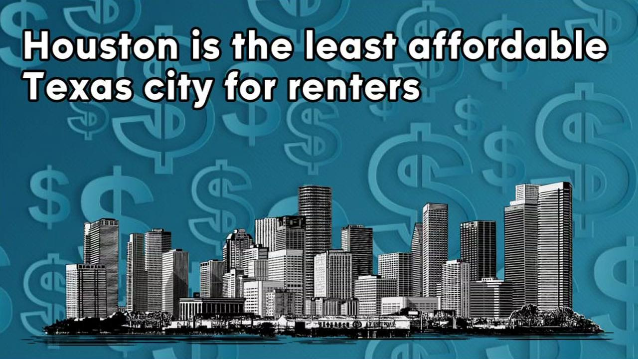 Houston ranks last of the four major metropolitan area in Texas, for affordable rents