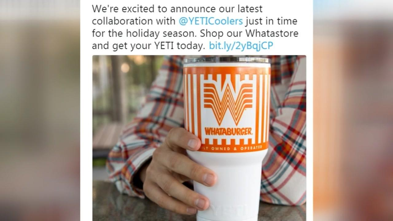 Whata-Yeti! Whataburger launches new custom tumbler