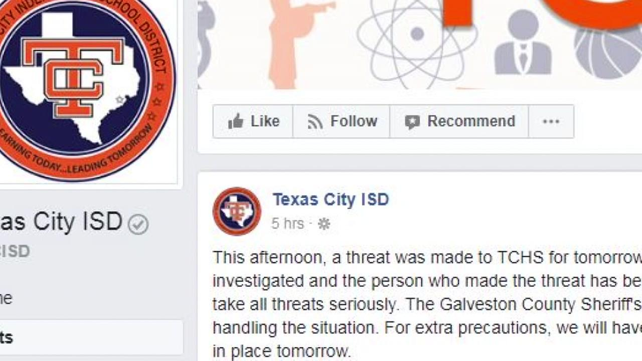 Threat made to grease high school in Texas City ISDNew Keyword