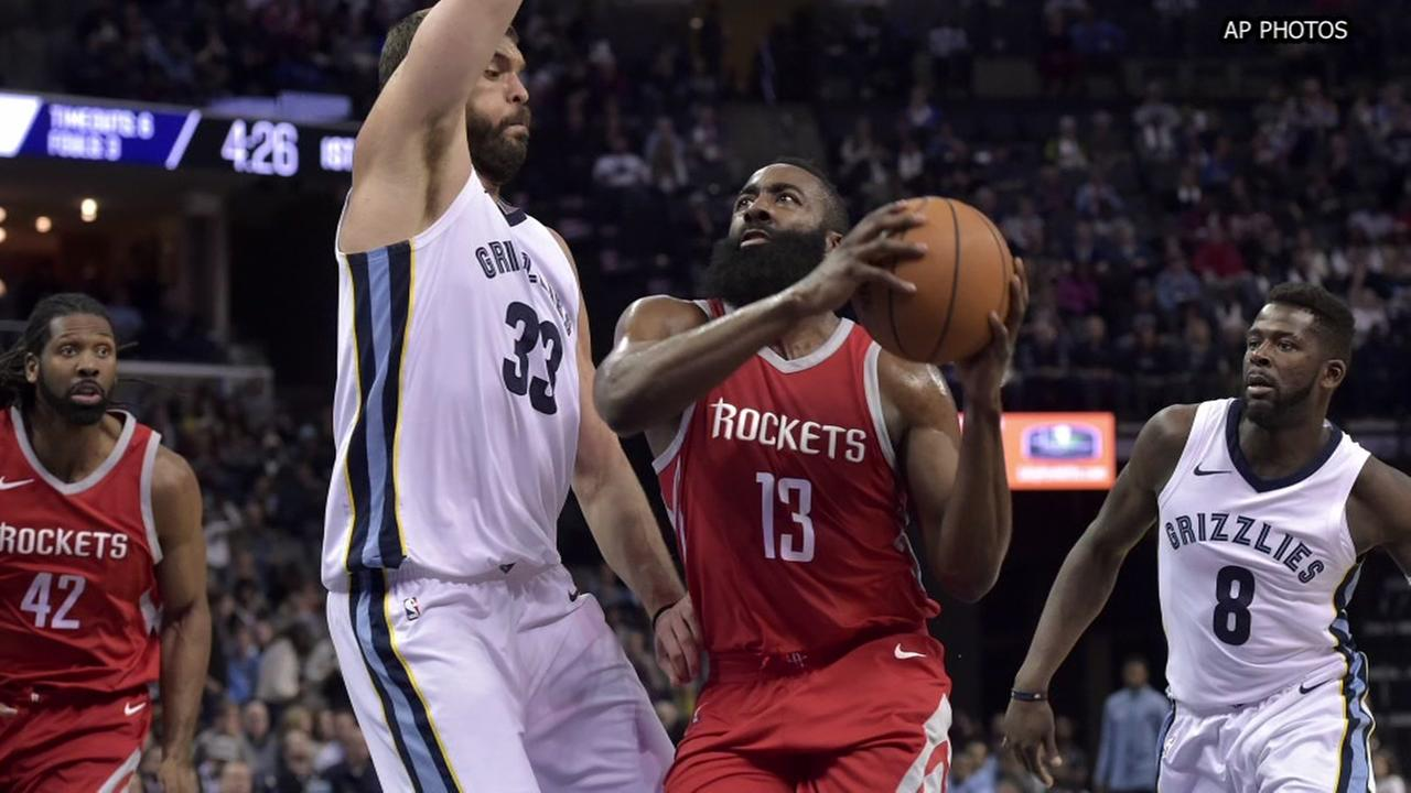 Harden scores 29 to lead Rockets past Grizzlies 105-83