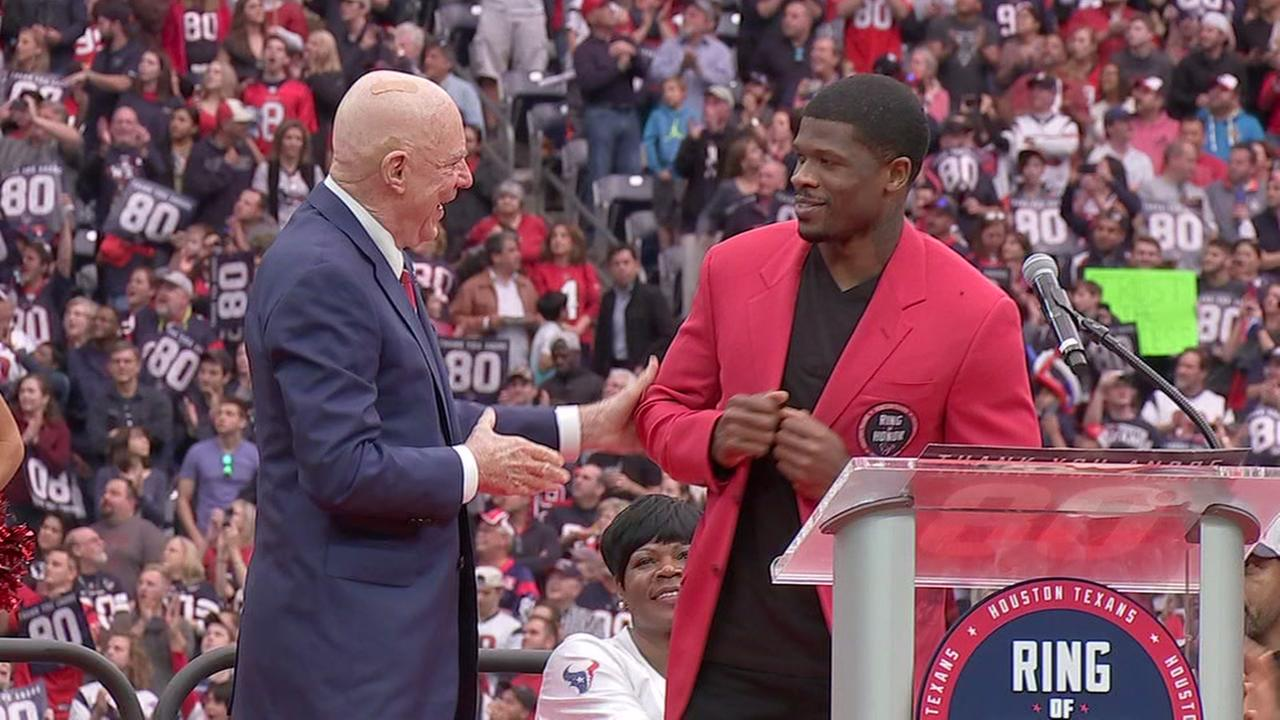 Texans honor Andre Johnson with induction into Ring of Honor