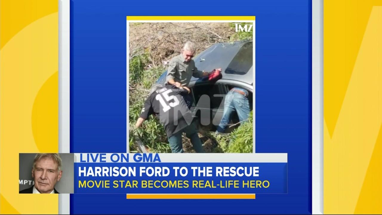 Harrison Ford to the rescue: Actor acts to help crashed mortorist