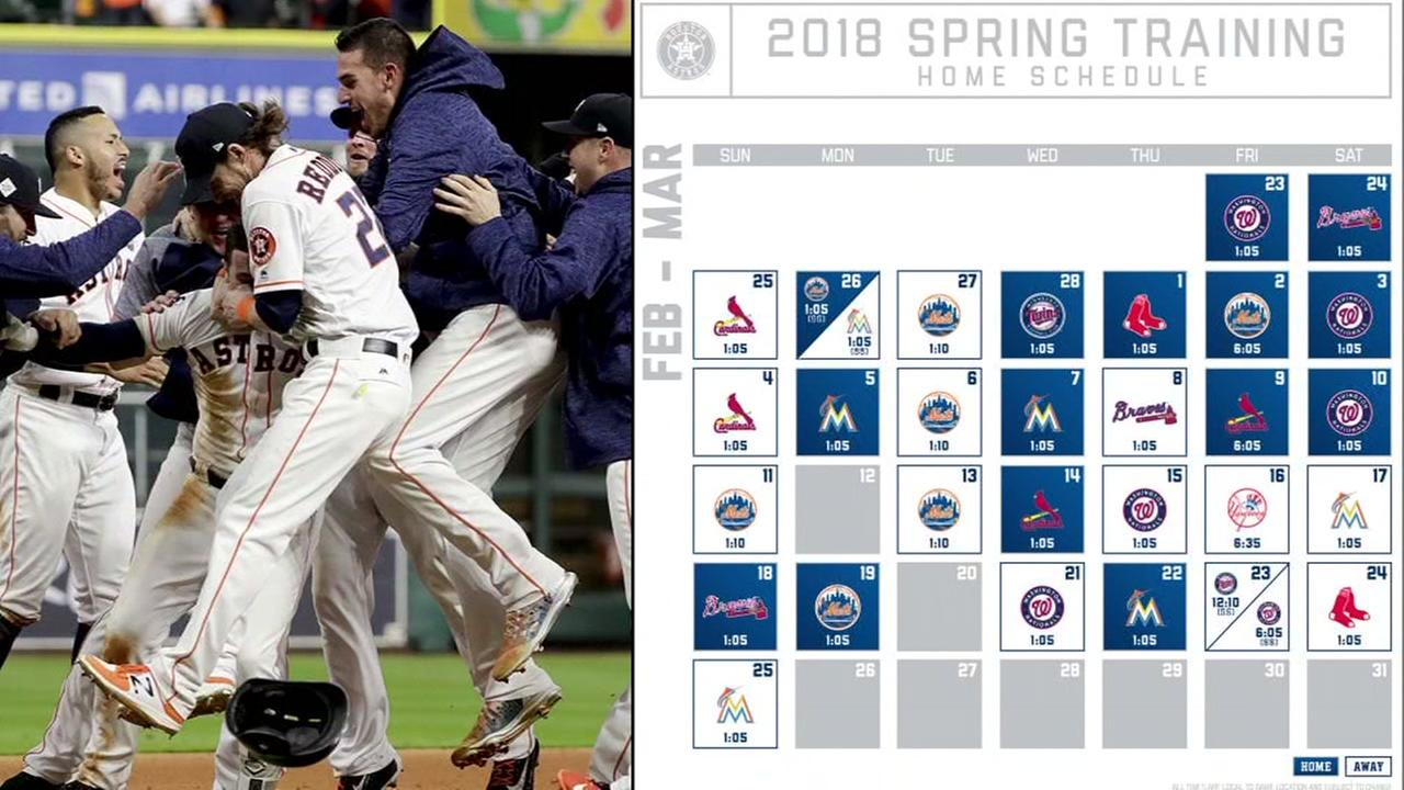 Astros release 2018 spring training schedule