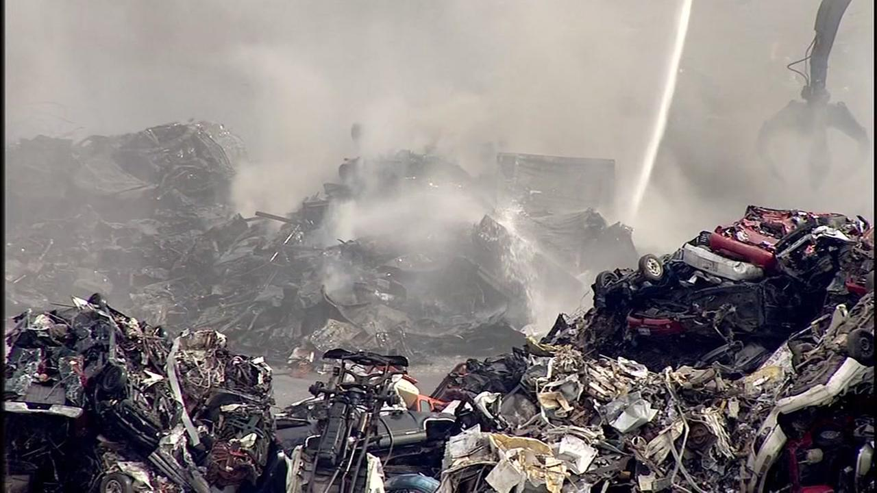 Fire under control at recyling plant in east Houston