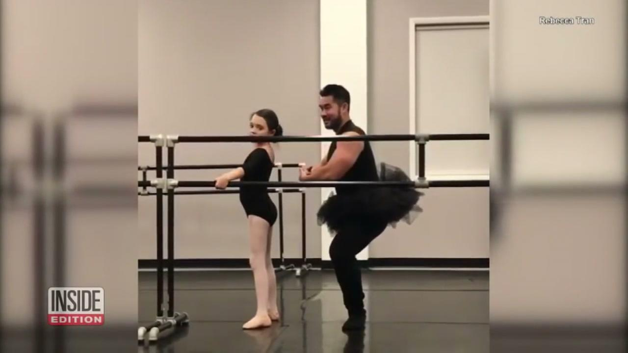 DAD OF THE YEAR? Man wears tutu for daughters ballet class
