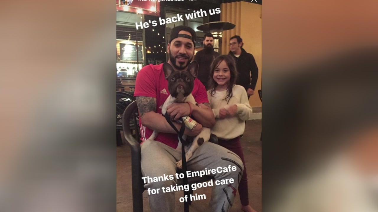 LOST and FOUND: Astros Marwin Gonzalez reunites with dog