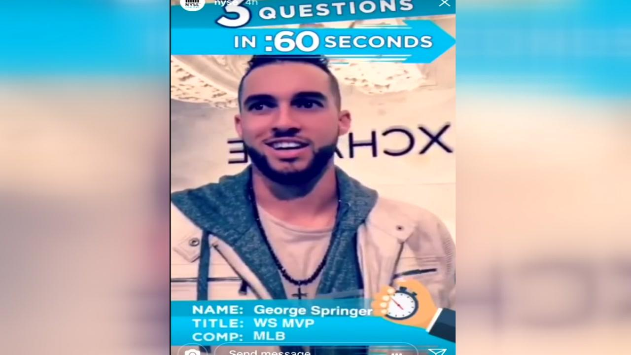 George Springer makes an appearance on the NYSE