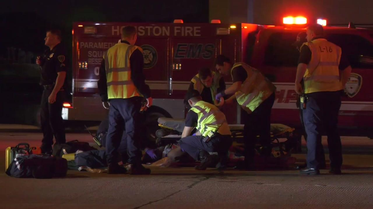 Woman hit by vehicle on Southwest Fwy