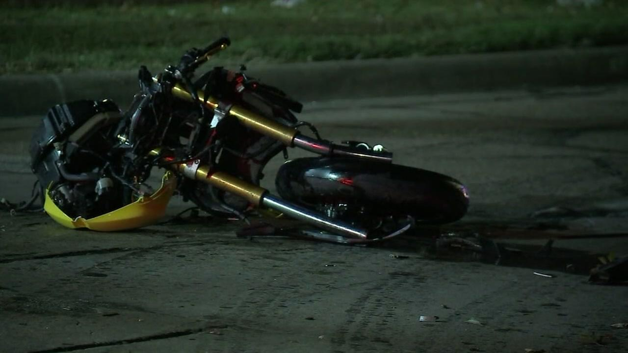 Motorcycle accident in Houston