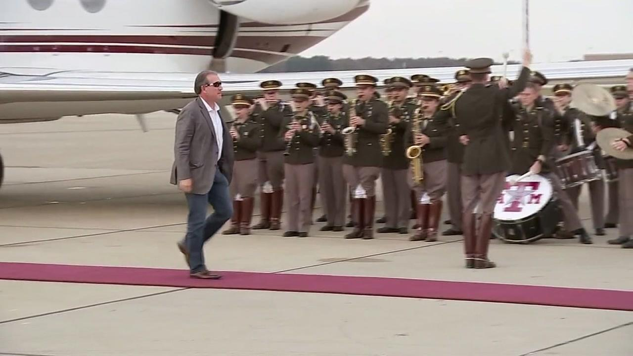 Jimbo Fisher welcomed at Texas A&M