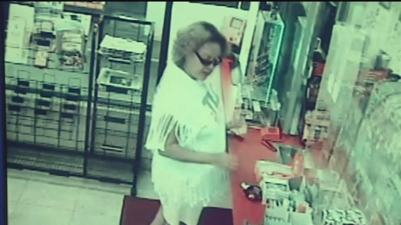 Woman caught on camera taking forgotten jewelry