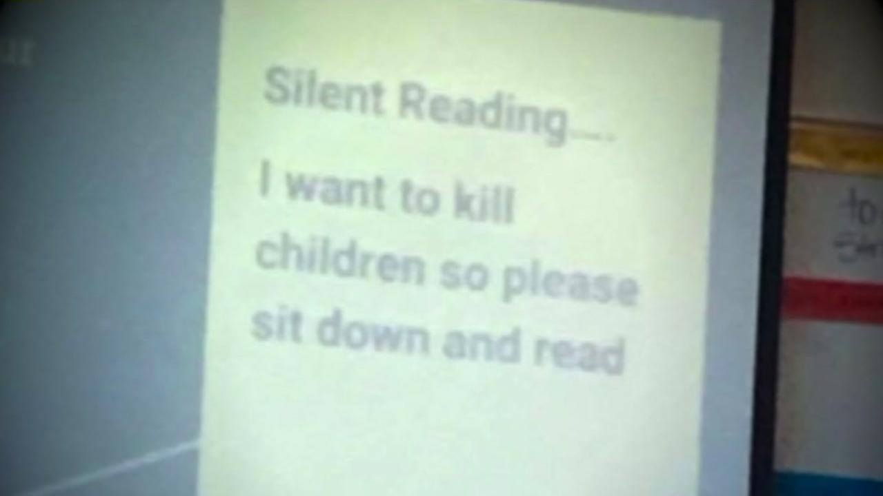 Teacher on leave after threatening message