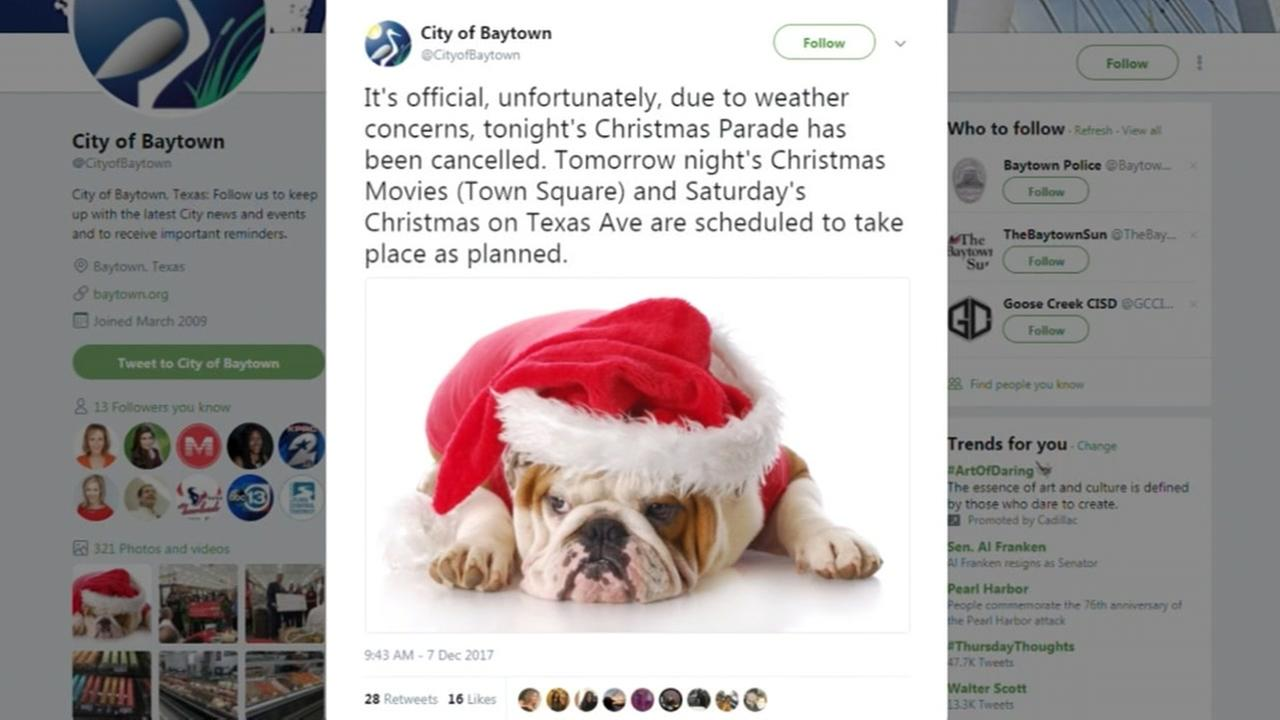 Baytown cancels Christmas parade