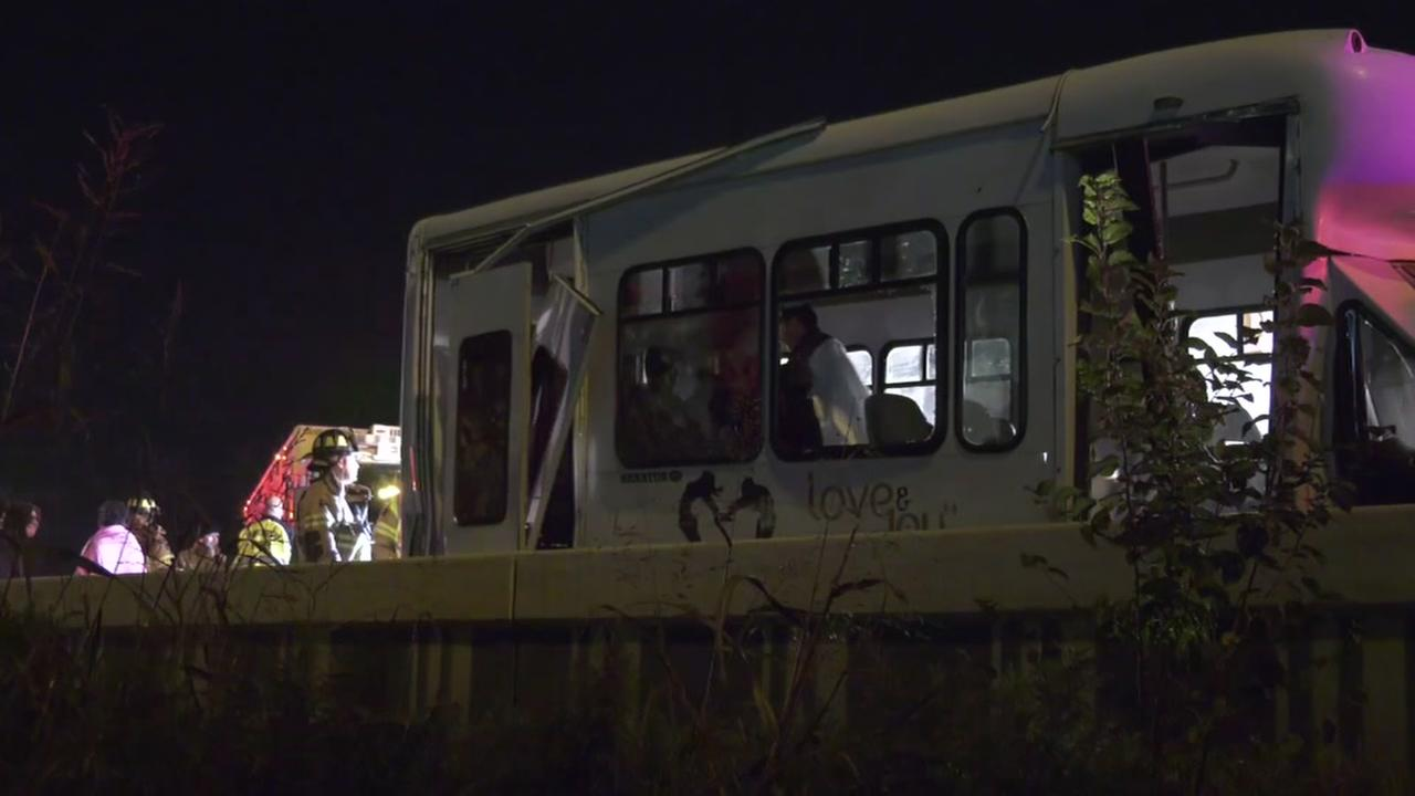 Bus involved in accident on North Loop