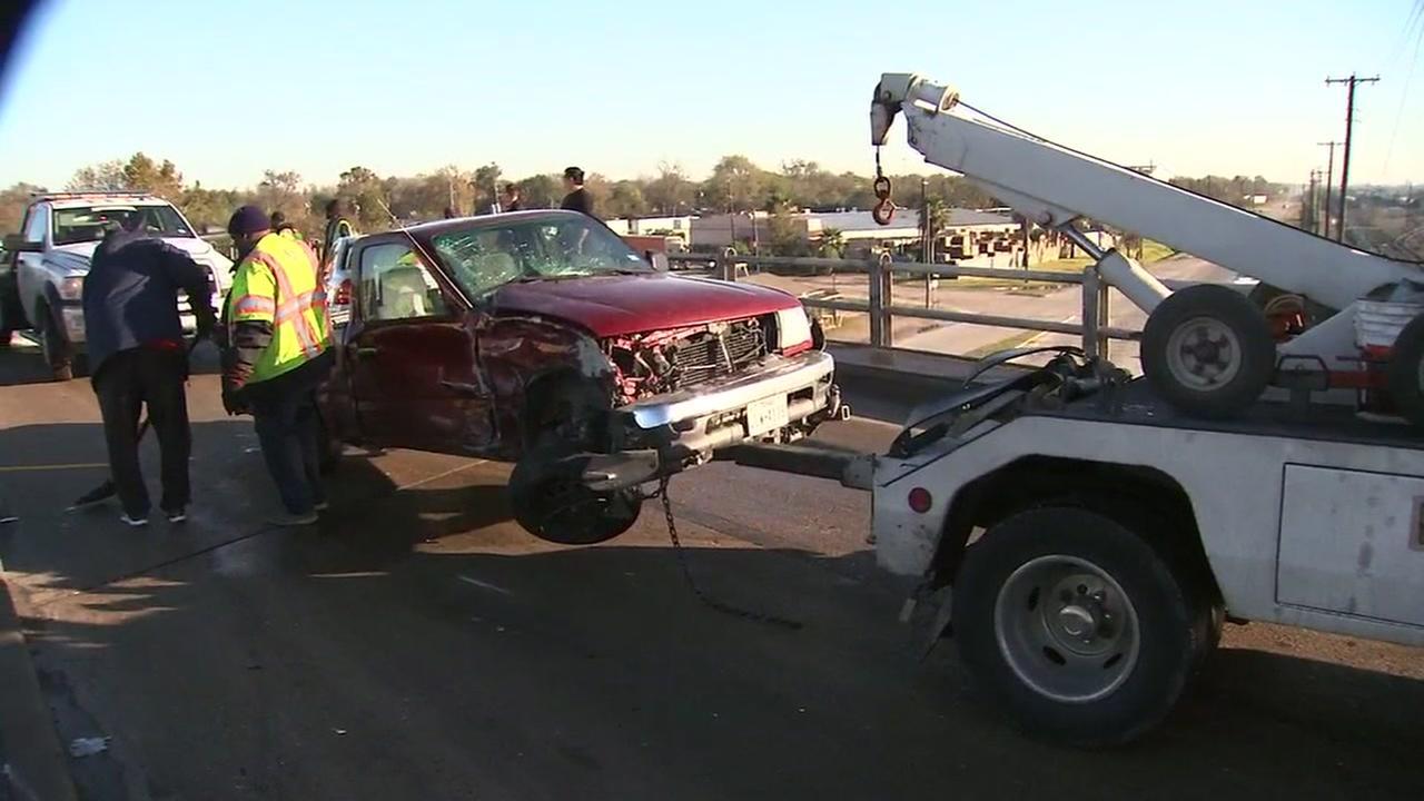 Ice on the roads cause 3-vehicle crash