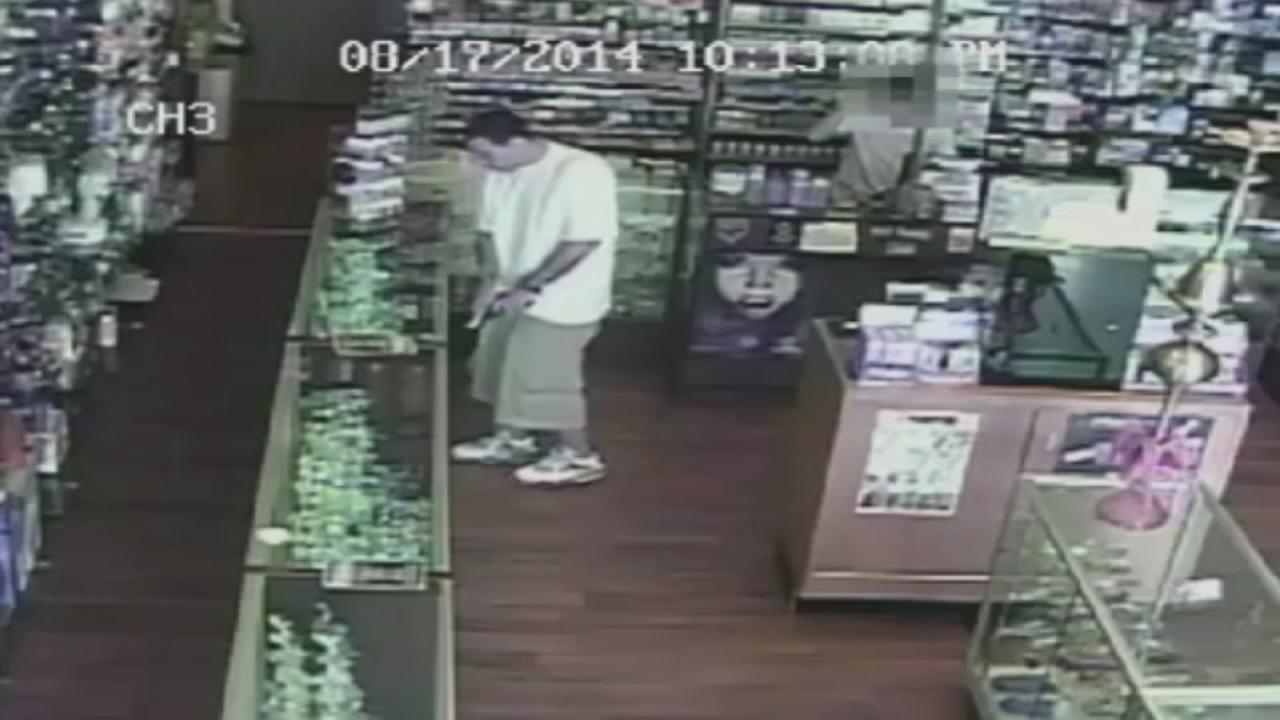 Smoke shop armed robbery