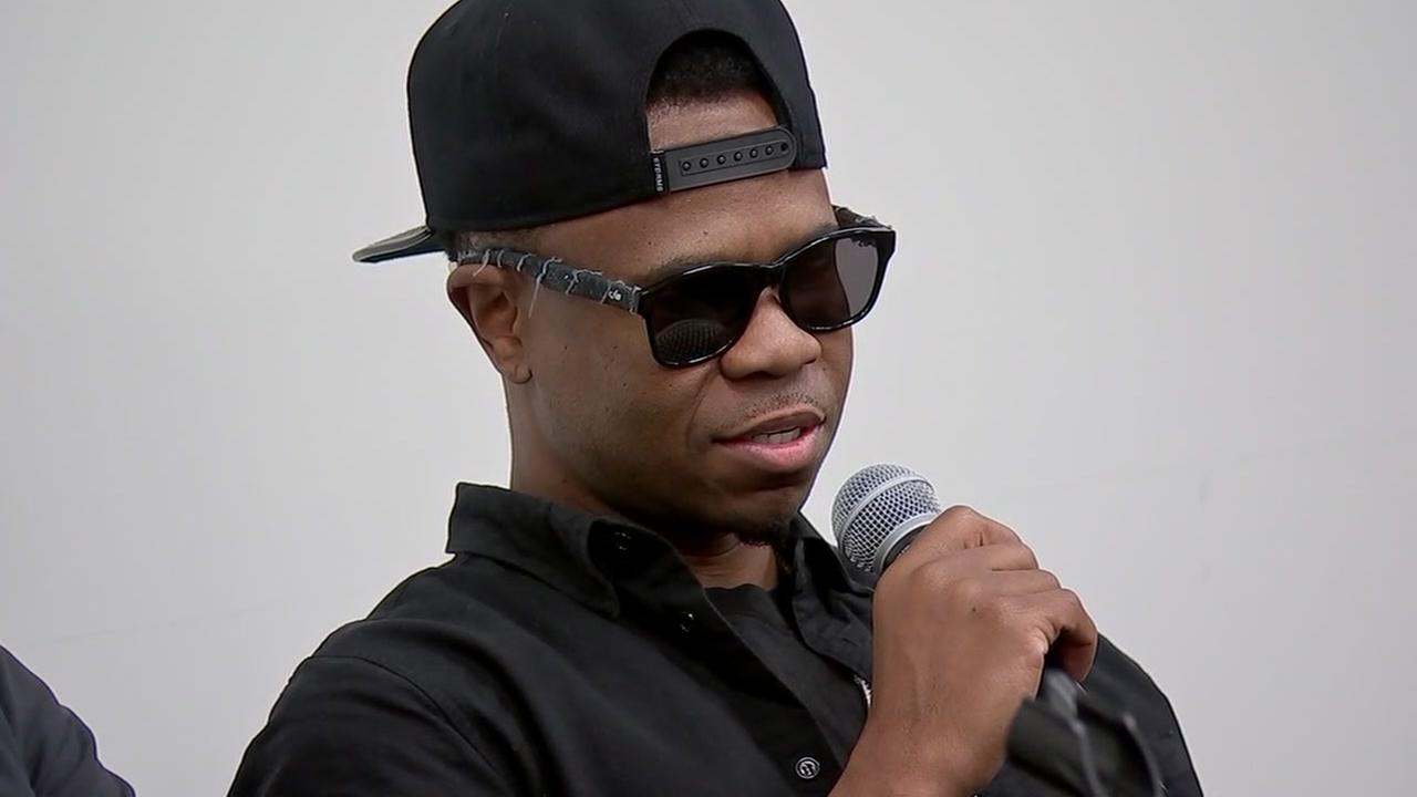 Grammy-winning rapper Chamillionaire spoke with high school seniors