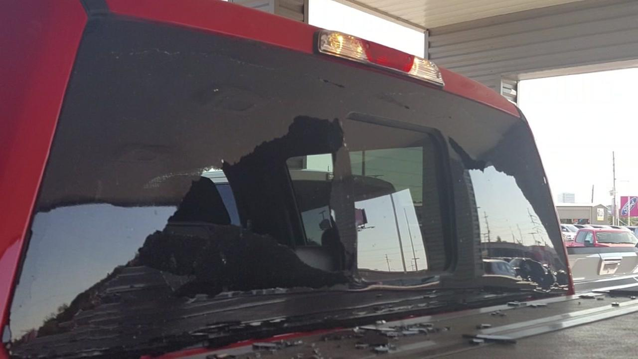 Driver says her F-150 window spontaneously shattered