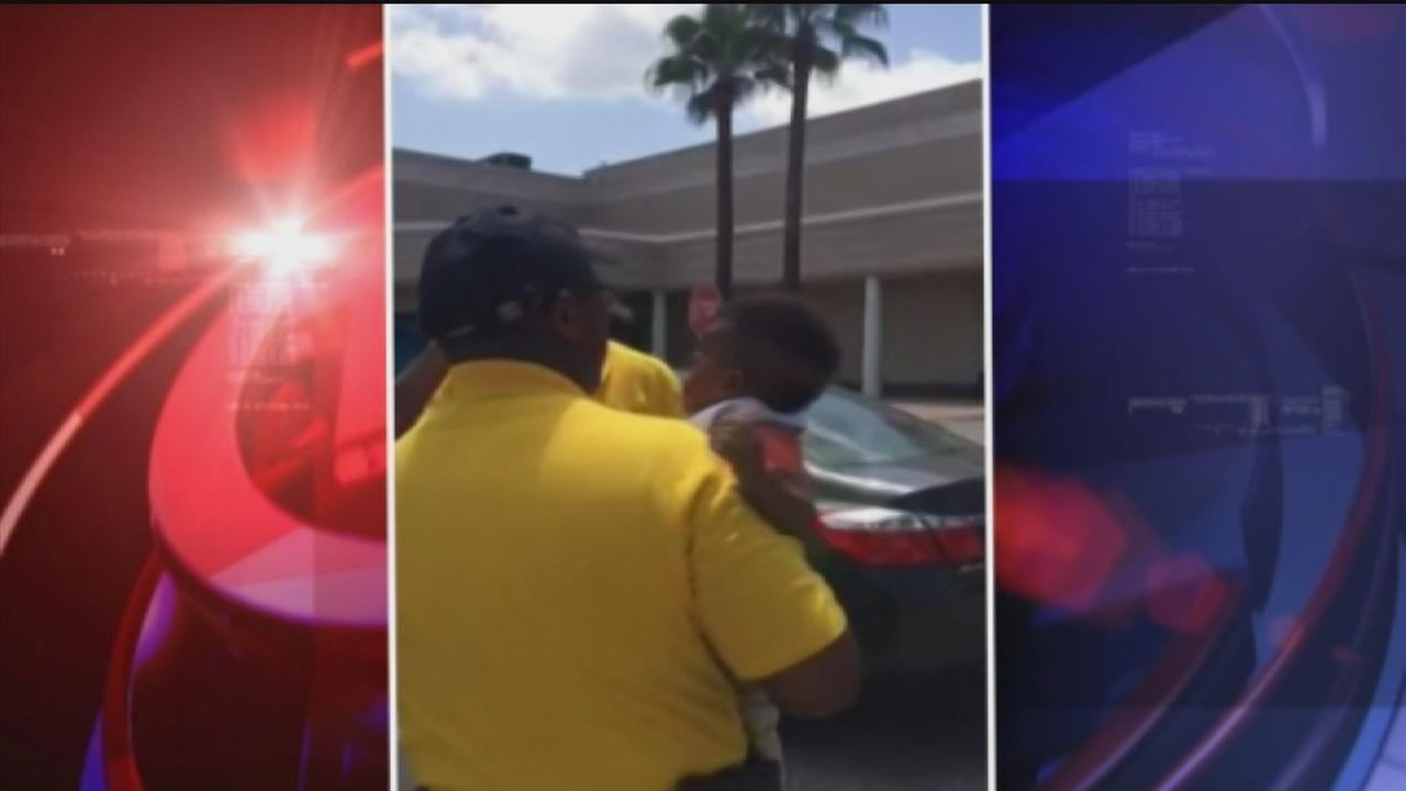 Baby rescued from hot SUV in parking lot